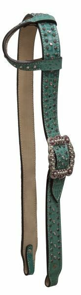 WESTERN SHOW HORSE BLING    BRIDLE ONE 1 EAR BELT STYLE HEADSTALL TURQUOISE  online retailers
