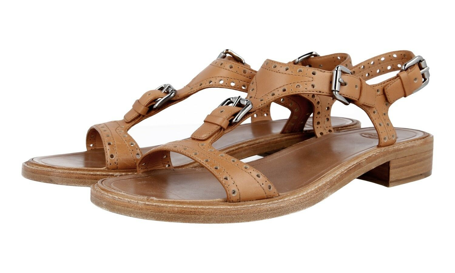 AUTH LUXURY CHURCH'S SANDALS SHOES A740309 NATURAL NEW 40 40,5 UK 7