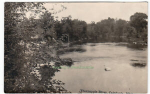 THORNAPPLE-RIVER-Caledonia-MICHIGAN-c1925-Photo-POSTCARD-Kent-County