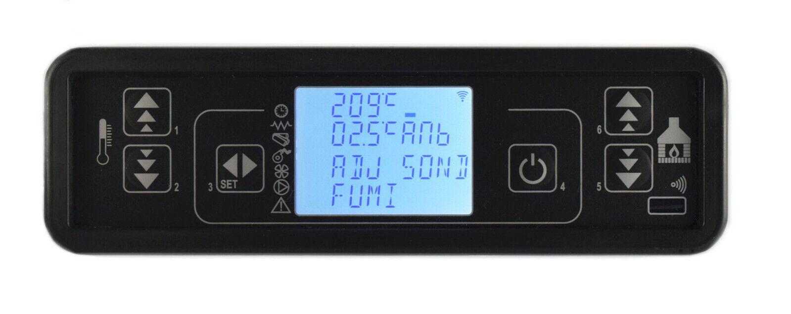 DISPLAY TECLADO LCD F047_2 MICRONOVA PARA ESTUFAS DE PELLETS