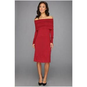Tommy-Bahama-158-Hobart-Off-The-Shoulder-Sweater-Dress-Flare-Heather-Red
