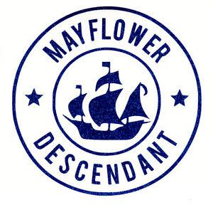 Mayflower descendant car blue glitter mini decal free for Mayflower car shipping