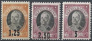 1927-San-Marino-Serie-Onofri-sopr-3v-S-L-M-N-H-Cat-Sass-130-32-250-00