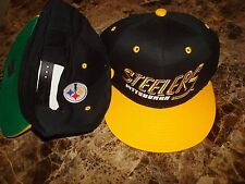 PITTSBURGH STEELERS  SCRIPT  RETRO  90'S HAT CAP  SNAPBACK