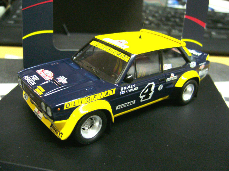 FIAT 131 Rallye Abarth Monte Carlo 1977  4 Alen Olio Fiat Trofeu TR1421 1 43