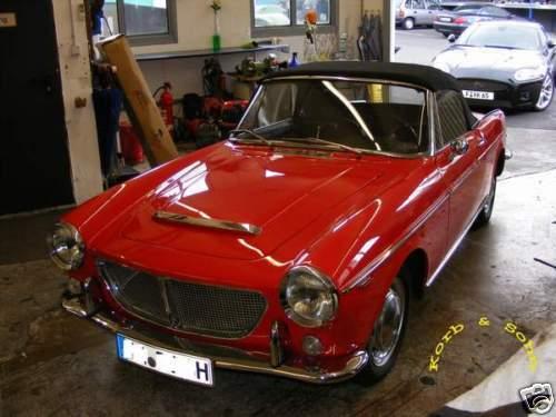 FIAT 1100-1500 CABRIOLET CAPOTE instructions de montage EBA