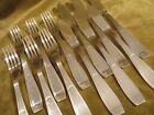 6 couverts poisson metal argente christofle Saigon Lanel (fish forks & knives)