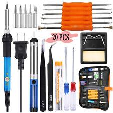 Soldering Iron Kit Electrical Welding Tool Gun Set Solder Station Tip Tweezer