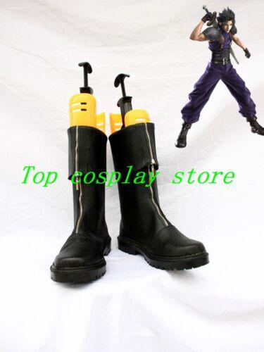 Final Fantasy VII Zack Fair Zacks/'s Black Cosplay Shoes Boots Cloud Strife shoe