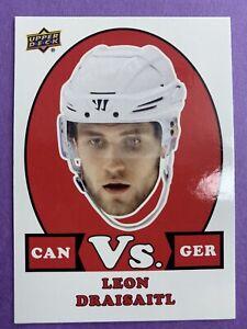 2017-18 Upper Deck Team Canada Can VS Ger #VS-13 Leon Draisaitl Edmonton Oilers