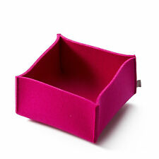 Filz Korb Aufbewahrung FELT Korb - 28 x 28 x 17 cm - Farbe pink