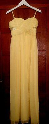 Robe longue bustier mariage/baptême jaune 36