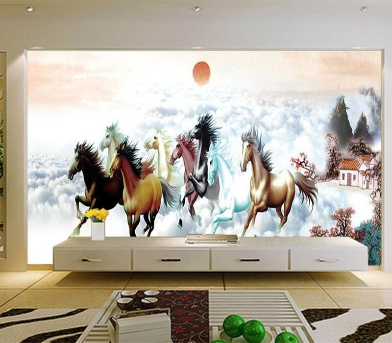 Friendly Pulpy Horse 3D Full Wall Mural Photo Wallpaper Printing Home Kids Decor