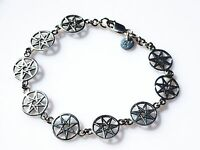 Elven Star Wiccan Symbol Sterling Silver Bracelet By Peter Stone Fine Jewelry