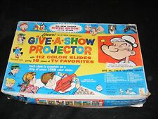 Kenner Toy Projector HANNA BARBERA Mighty Mouse POPEYE Dick Tracy SLIDES BOXED!