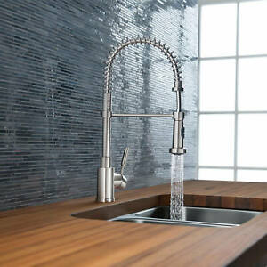 blanco meridian semi professional kitchen faucet blanco meridian 441753 semi professional kitchen faucet 19 1 4 quot h chrome ebay 9612