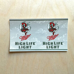 miller high life light beer vinyl sticker liquor alcohol pbr decal bumper laptop ebay. Black Bedroom Furniture Sets. Home Design Ideas