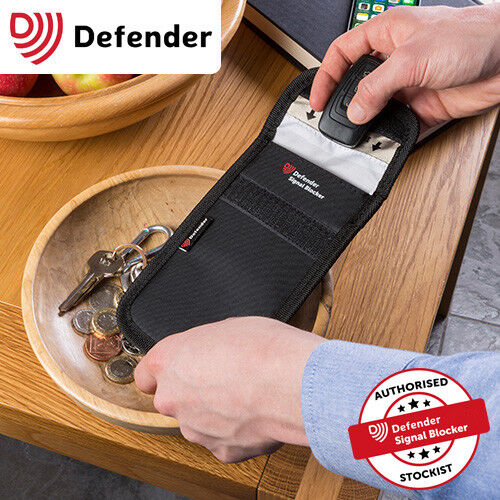 Genuine Defender Signal Blocker Car key Fob Signal Jamming pouch UK Stock RED