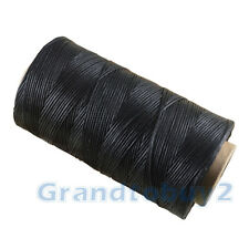 Black 284 Yard 1mm Leather Waxed Ploy/Polyester Sewing Thread Craft Repair NEW