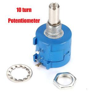 Multi-Turn-Potentiometer-Rotary-Wirewound-Praezision-Potentiometer-Pot-10-Turn-DE