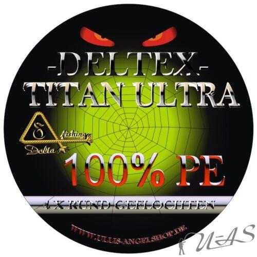 DELTEX Titan Ultra Camou 0,10mm 6.10kg 300M Rund Geflochtene Angelschnur Kva