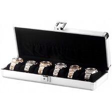 Orbita Lugano 6 Aluminum Travel Watch Case Suede Lined w/ Storage Pouch W81001