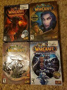 *Lot of 4* Warcraft PC computer games - Original, Mists, Wrath, Cataclysm, etc