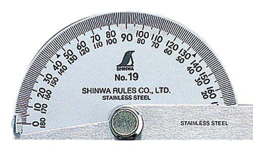 SHINWA Rapporteur Lame Unique en Acier Inoxydable populaire Taille 62480 Japon