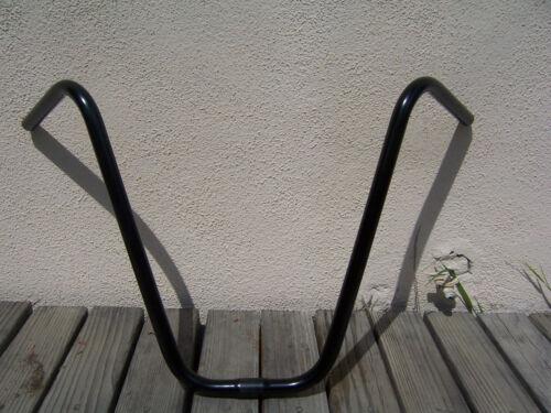 "BICYCLE BLACK APEHANGER HANDLEBAR 16/"" BEACH CRUISER LOWRIDER CHOPPER MTB BMX"
