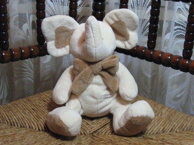 Tiamo Holland Baby Safe Elephant Plush with Rattle 26 CM