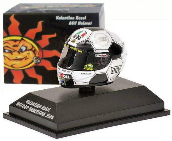 Disfruta de un 50% de descuento. Minichamps Minichamps Minichamps Valentino Rossi Casco MotoGP Barcelona 2008 1 8 Escala  muy popular