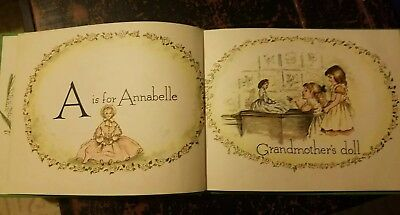 1:12 SCALE MINIATURE BOOK A IS FOR ANNABELLE TASHA TUDOR DOLLHOUSE