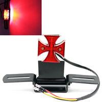 Cross Tail Light With License Plate Bracket For Chopper Bobber Cafe Racer