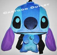 Disney Stitch Plush Doll Backpack 15 Toy Gift Stuffed Lilo And Stitch Flat Bag