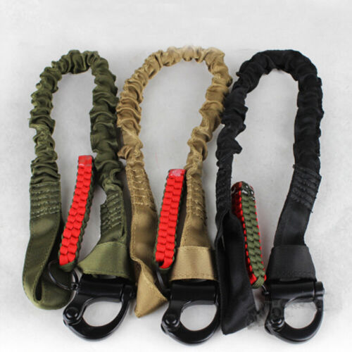 Carabiner Lanyard Retractable Safety Rope Elastic Climbing Tool 55CM,up to 6000N