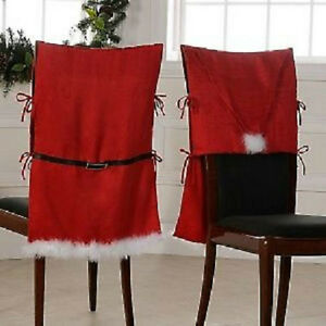 Image Is Loading NIP Santa Claus Suit Armless Chair Covers Set