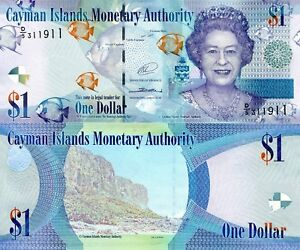 Image Is Loading Cayman Islands 1 Dollar Banknote World Paper Money