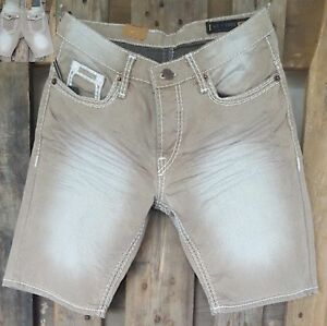 67507d4dc2cd Das Bild wird geladen Herren-Shorts-Jeans-Bermuda-Cargo-Capri-Kurze-Hose-