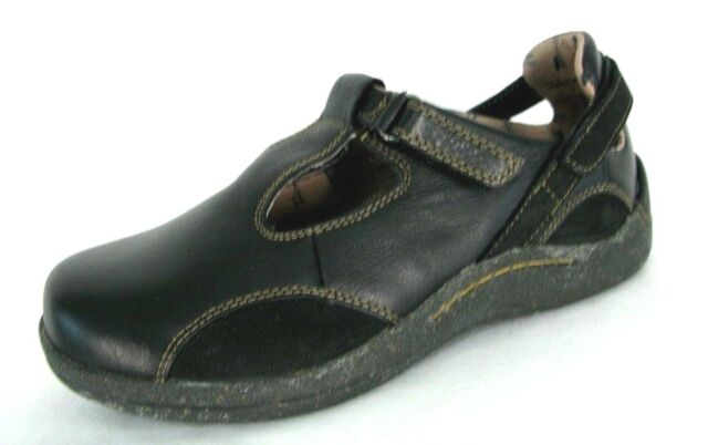 5536f11043e04d Drew Barefoot Freedom Shoes 6.5WW Mary Jane Loafer Black Orthotic Diabetic  NWOB