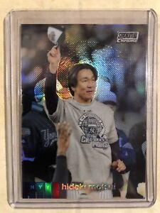 2020 Topps Stadium Club Hideki Matsui Chrome Refractor #103 New York Yankees