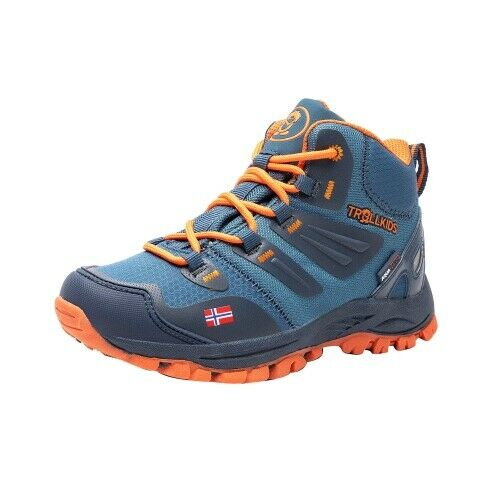 Trollkids Rondane Hiker Mid Kinderschuh Wanderschuh mystic Blau Orange blau