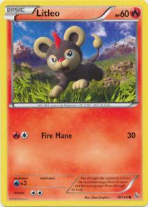 Litleo Common Reverse Holo Pokemon Card XY2 Flashfire 18//106