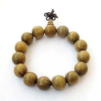 15mm Green Sandalwood Tibet Buddhist Prayer Beads Mala Bracelet