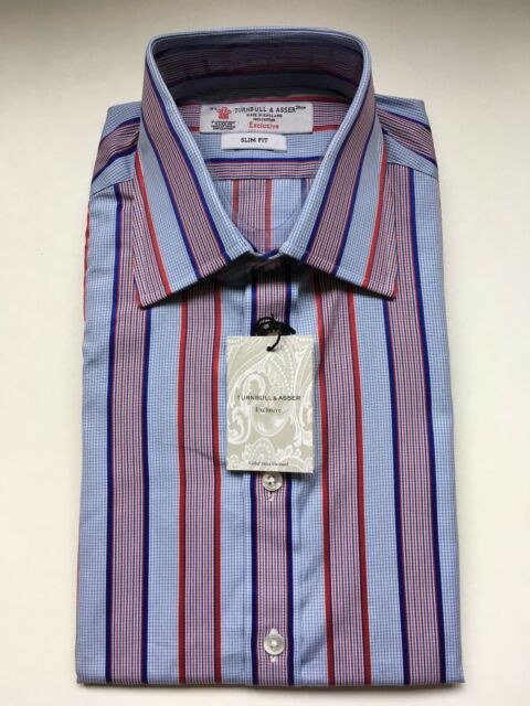 Turnbull & Asser Shirt, Size 15.5 / 39  NEW WITH TAGS, RRP: £195!  Button Cuff