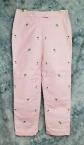 Brooks-Brothers-Womens-sz-6-28x30-Pink-Green-Palm-Trees-Beach-Casual-Pants