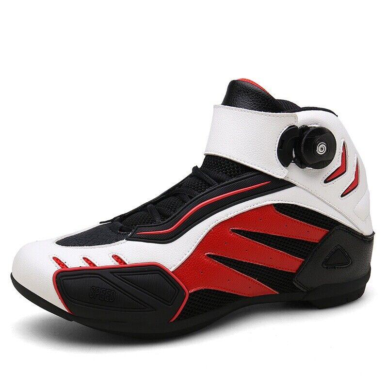 Unisex Zapatillas Anti-Slip Carreras de motocicleta al Aire Libre Portátil Suave botas Deporte