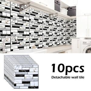 Détails sur 10x 3d carrelage mural autocollant cuisine salle de bain  mosaïque auto-adhésif G