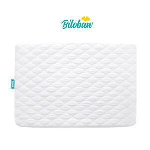 "Waterproof Crib Mattress Pad Cover Fits Pack N Play or Mini Crib 39/"" x 27/"" White"