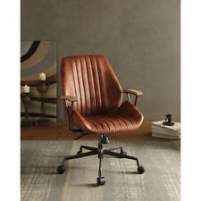 Saltoro Sherpi Metal Amp Leather Executive Office Chair Cocoa Brown