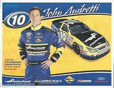 "2006 JOHN ANDRETTI ""FREEDOM ROADS FORD FUSION"" #10 NASCAR BUSCH SERIES POSTCARD"